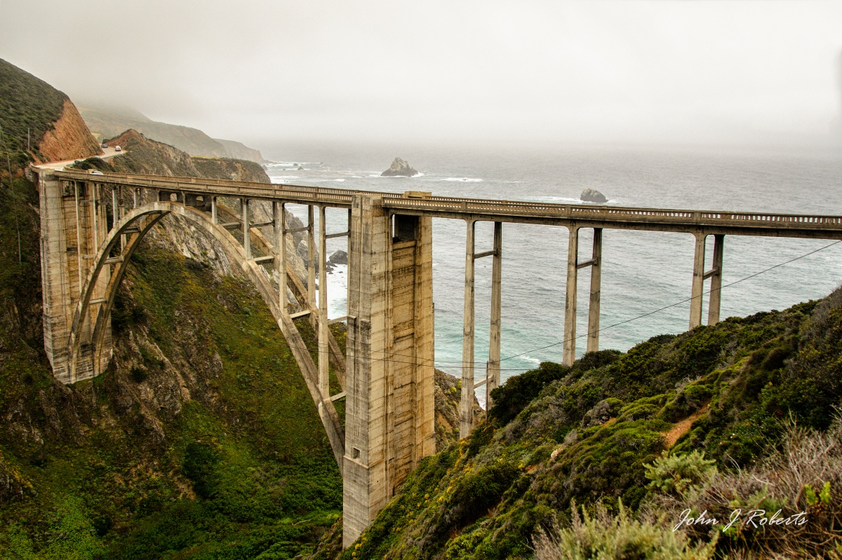 Beneath the Bixby Canyon Bridge